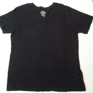 Forever 21 Men V neck T-Shirt Black Large
